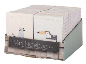54 x Mini Animal Memo Note Pad - 60 Page- Mix Designs - Wholesale Bulk Lot Deals