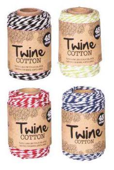 24 x 25m Twine Roll - 4 Assorted Colours - Wholesale Bulk Lot Deals