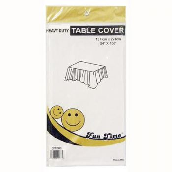 12 x White Heavy Duty Table Cover - Wholesale deals!