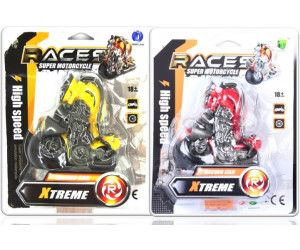12 x XTREME BIKES WITH FRICTION - 4 ASSORTED COLOURS  - TOY - Wholesale Bulk Lot Deal
