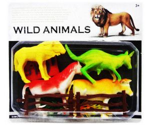 16 x WILD ANIMALS SET 4 PACK - COLLECTABLES - ASSORTED MODELS - TOY - Wholesale Bulk Lot Deal