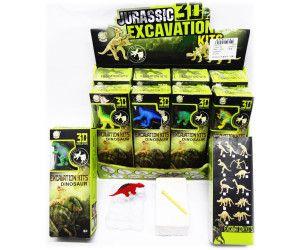12 x 3D Dinosaur Excavation Kit - 8 Assorted models - TOY - Wholesale Bulk Lot Deal