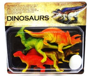 16 x Dinosaurs Set 5 Pack - 4 Dino with egg - TOY - Wholesale Bulk Lot Deal