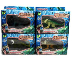 12 x DRAGONS BEASTS - LARGE SIZE IN BOX - ASSORTED MODELS - TOY - Wholesale Bulk Lot Deal
