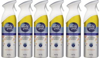 6 x Ambi Pur 275g Air Freshener Air Effects Allergen Reducer Pure Refreshment - Wholesale Deals Bulk lot - Save more