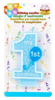 24 x My 1st Birthday Candle Blue - Wholesale Bulk Lot Deals