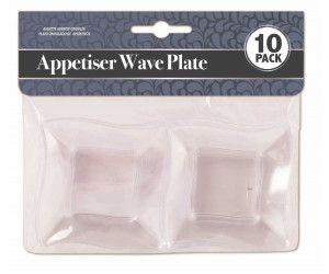 240 Pack (24 x 10 Pack) APPETISER PLATE WAVE MINI - Wholesale Bulk Lot Deals