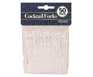 1200 Pack (24 x 50 Pack) PARTY COCKTAIL FORK CLEAR - Wholesale Bulk Lot Deals