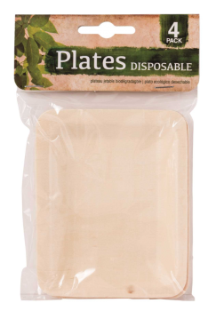 96 Pack (24 x 4 Pack) DISPOSABLE ENVIRONMENT FRIENDLY (  ECO FRIENDLY ) RECTANGLE PLATE - Wholesale Bulk Lot Deal